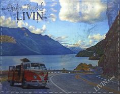 """""""Open Road LIVIN No.2"""". LIVIN® mixed media artwork. Available in gallery quality (high-resolution) prints and canvas wraps."""