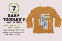Baby Toddler's Long Sleeve Mockups by Antonio Padilla on @creativemarket