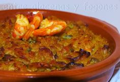 ...Arroz cremoso marinero.... Portuguese Recipes, Portuguese Food, Mexican Food Recipes, Ethnic Recipes, Spanish Food, Omelette, Churros, Flan, Rice
