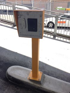 Australian Bollards - Access Control Card Reader Post & Head at Dorevitch Pathology, Heidelberg, VIC.  http://www.australianbollards.com.au/Catalog/access-control-system