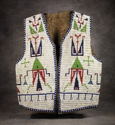 Sioux Man's Beaded Vest