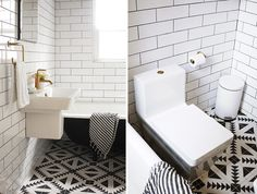 29th Avenue: A Dark and Dramatic Bathroom Makeover -- The BIG Reveal! » Curbly | DIY Design Community