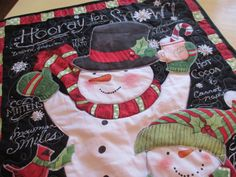 Quilted Snowman Wall Hanging  Christmas Wall by bungalowquilts