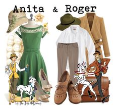 """""""Anita & Roger"""" by thejoyofdisney ❤ liked on Polyvore featuring ASOS, Mossimo, Forever 21, Radcliffe and Bettie Page"""