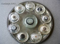 paperweights made from votive candleholders ~~  from Vintage 541