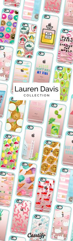 All time favourite iPhone 6 protective phone case designs by Lauren Davis | Click through to shop more food animal iPhone phone case designs >>> https://www.casetify.com/LaurenDavisDesign/collection | @casetify