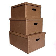 38x48x23cm Textile Krabice hranatá  látka polibond