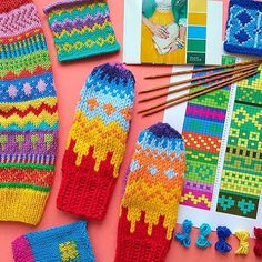 Добрый день!!! Уже после завтра состоится мастер-класс по жаккарду,для… Fair Isle Pattern, Knitting Charts, Mittens, Knit Crochet, Photo And Video, Instagram Posts, Socks, Fingerless Mitts, Fingerless Mittens