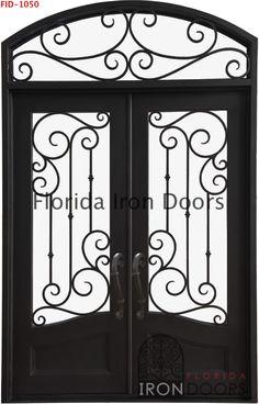 Florida Iron door Door with transom