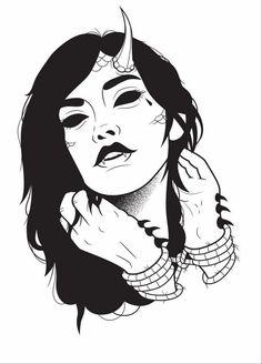 Tiger Cat by art-it-art Kritzelei Tattoo, Tatoo Art, Tattoo Sketches, Tattoo Drawings, Art Sketches, Satanic Art, Dark Art Drawings, Goth Art, Arte Horror