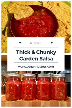 Easy Recipe for Thick & Chunky Garden Salsa, Perfect for Chips & Salsa! Salsa Canning Recipes, Canned Salsa Recipes, Fresh Salsa Recipe, Canning Salsa, Fresh Tomato Recipes, Jelly Recipes, Canning Labels, Easy Chunky Salsa Recipe, Kitchen