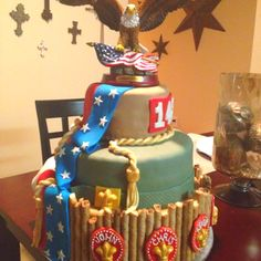 Eagle Scout cake that I made 3-30-12