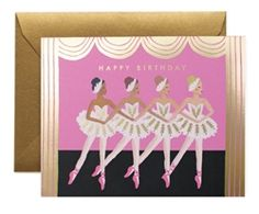 Birthday Ballet card designed by Anna Bond for Rifle Paper Co. Available now at Northlight Homestore