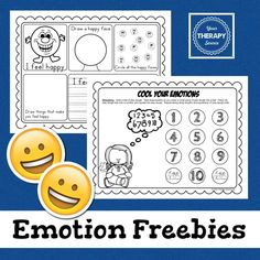 Emotions Freebie from http://yourtherapysource.com/emotionsfreebie