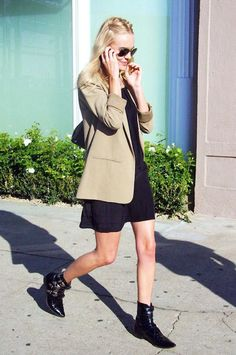 See Kate Bosworth's Cool Take On The Dress And Blazer Look (Le Fashion)