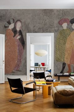 Wall and Deco Agorà Contemporary Wallpaper, Contemporary Decor, Wallpaper Collection, Traditional Decor, Wall Wallpaper, Wallpaper 2016, Unique Home Decor, Interior Inspiration, Wall Murals