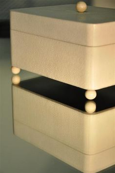ginger brown,shagreen box,coffret galuchat,yacht interiors