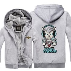 League of Legends warm hoodie LOL Volibear sweatshirts for men