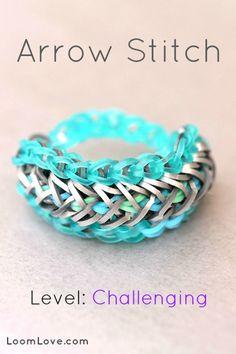 arrow stitch rainbow loom