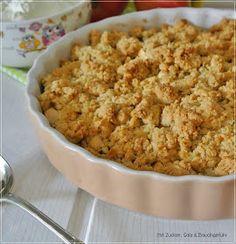 Apple Crumble, Äpfel, Streusel, Nachtisch, Dessert, backen, Rezept