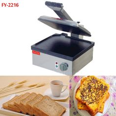260.64$  Buy here - http://alib3x.worldwells.pw/go.php?t=32647373924 - 2piece FY-2216  New style Big pan Electric bread toaster Pancake machine 260.64$