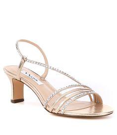 1466aa48cc8d8a Nina Gerri Metallic Rhinestone Faux Suede Dress Sandals