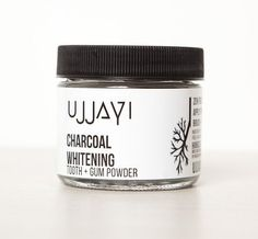 11 Natural, Organic & Fluoride-Free Toothpaste Brands For A Brighter Smile   Ujjayi Charcoal Whitening Tooth Powder Organic Makeup Brands, Organic Beauty, Organic Skin Care, Natural Beauty, Organic Toothpaste, Toothpaste Brands, Tooth Powder, Natural Bathroom, Makeup Tutorial For Beginners