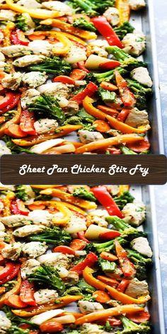 - Sweet Home Chicken Stir Fry, Chicken Fajitas, Chinese Food, Sheet Pan, Pasta Salad, Fries, Sweet Home, Yum Yum, Ethnic Recipes