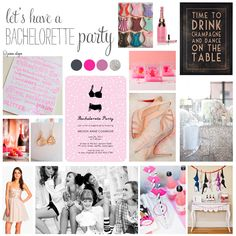A classy, girly bachelorette party theme by jessalayne.com