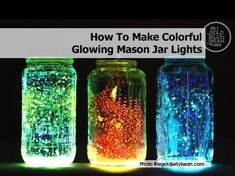 How To Make Glow In The Dark Mason Jars | DIY Cozy Home