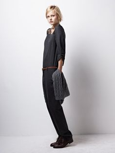 charcoal flannel and cashmere