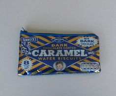 Handmade Pencil Case made from a Recycled Tunnocks Caramel Chocolate Wrapper. By mylittlesweethearts Chocolate Wrapper, Chocolate Packaging, Chocolate Caramels, Year 8, Chocolate Coating, Crisp, Recycling, Pencil, Textiles