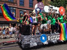 A float from New York City's Pride Parade