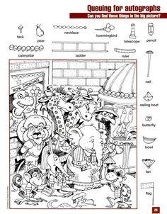 english lessons for kids kindergartens Library Activities, Alphabet Activities, Preschool Activities, Kindergarten Learning, Alphabet Worksheets, Preschool Printables, Free Printables, Hidden Picture Games, Hidden Picture Puzzles