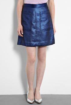 Veruchka Lame Patch Pocket Skirt by Marc