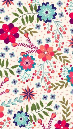 Pattern Floral pattern by Minakani # minakani # fokflower Pattern Floral pattern by Minakani # minakani # fokflower Iphone Background Wallpaper, Flower Wallpaper, Pattern Wallpaper, Posca Art, Cute Backgrounds, Motif Floral, Flyer, Pretty Wallpapers, Pattern Illustration