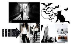 """""""Black and white -Imagination"""" by lim-qiqi on Polyvore featuring Urban Outfitters"""