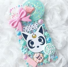 Kitty Girl Pastel Decoden Phone Case - Can be made for any device