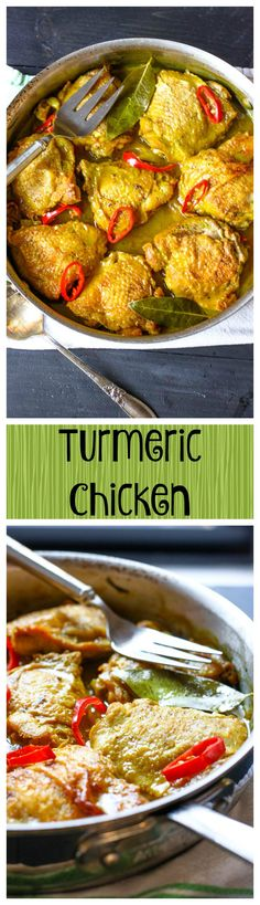 A creamy yet dairy-free turmeric sauce takes this chicken recipe to awesome heights. It& paleo, healthy, simple, and delicious! Qinuoa Recipes, Indian Food Recipes, Healthy Dinner Recipes, Chicken Recipes, Syrian Recipes, Yogurt Recipes, Whole30 Recipes, Healthy Chicken, Delicious Recipes