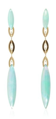 Fuseau Chrysoprase Earrings by Vhernier