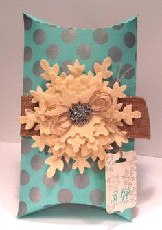 Decorated Pillow Box Gift Package by stampedsilly on Etsy, $4.25