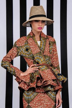 The Patricia Wrap Cardigan Jacket African by DemestiksNewYork