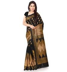 Black Color Bhagalpuri Function Wear Sarees : Ashvika Collection  YF-43097