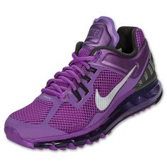 New Work shoes!  Women's Nike Air Max+ 2013  FinishLine.com | Laser Purple/Reflective Silver