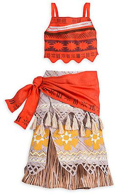 Perfect gift for the princess who has every outfit except this one.  Moana Costume for Kids