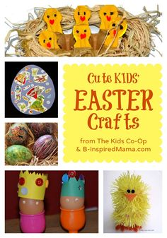 Have you started your Easter crafting yet? Celebrate Easter with the kids with these cute Kids Easter Crafts from the creative mom bloggers of The Kids Co-Op at B-InspiredMama.com!
