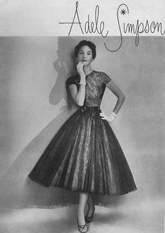 Adele Simpson dress, Harper's Bazaar, 1953