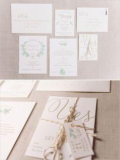 wedding invitation suite #weddinginvitations @weddingchicks