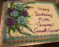 square birthday cake ideas Google Search Buttercream cake ideas