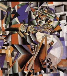 Kasimir Malevich | Knife Grinder from his period as a Cubo Futurist.